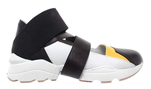 IXOS Damen Schuhe Sneakers Multifarbe Weiss Open Leder Slip On Neu
