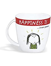 Clay Craft - Happiness Is, Inner Peace Bone China Milk Mug, 270ml/5.6cm, Multico