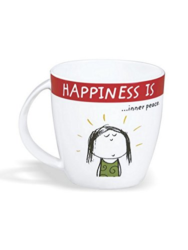 Clay Craft - Happiness Is, Inner Peace Bone China Milk Mug, 270ml/5.6cm, Multicolour