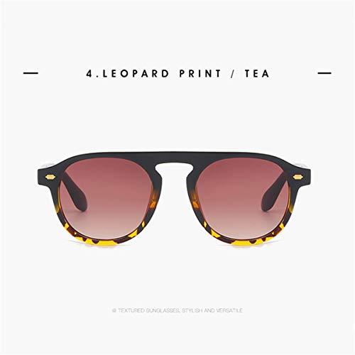 FGRYGF-eyewear Sport-Sonnenbrillen, Vintage Sonnenbrillen, New Arrival Round Sunglasses Men Coating Retro Women Sun Glasses Vintage Retro Mirrored Glasses UV400 Leopard