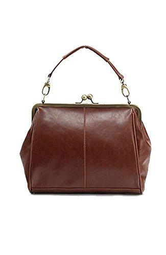 Coffetime-Kostenlose Lieferung-Damen Luxus Umhangetaschen Schultertaschen Retro Handtaschen Kiss Lock Cross Body Taschen Mit Riemen Tornistertaschen