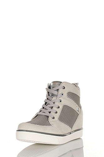 Lumberjack SW05105-004 N55 Sneakers Damen Spaltleder LT GREY/SILVER