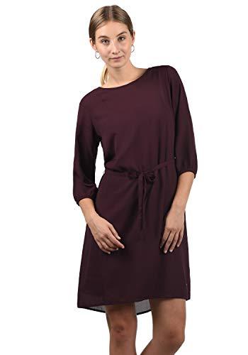 BlendShe Beate Damen Blusenkleid Lange Bluse Kleid Mit Rundhalsausschnitt, Größe:M, Farbe:Winetasting (20252)