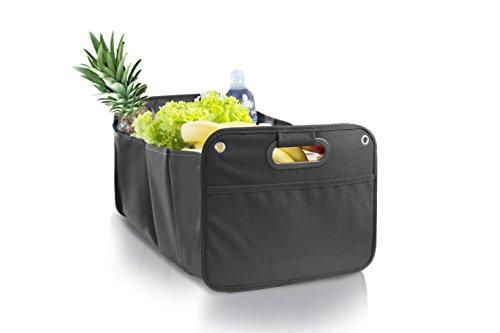 Kofferraumtasche, Auto Organizer I Faltbox mit Klett Befestigung I Stabile, Große Autobox für Einkäufe, Spielzeug oder Werkzeuge I Ordnungssystem für mehr Platz im Auto oder Haushalt