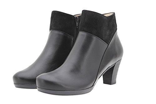 Piesanto Chaussures Femme Confort Cuir 9805 Bottes Décontracté Comfort Largeur Special Negro