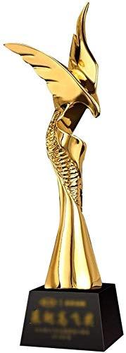 ATLT Trofei, medaglie Premi Trofeo d'oro Trofeo in resina metallo Creativo Personalizzato Eccellente Team Dipendente Campione vendite Trofeo,Oro,8 * 8 * 30cm