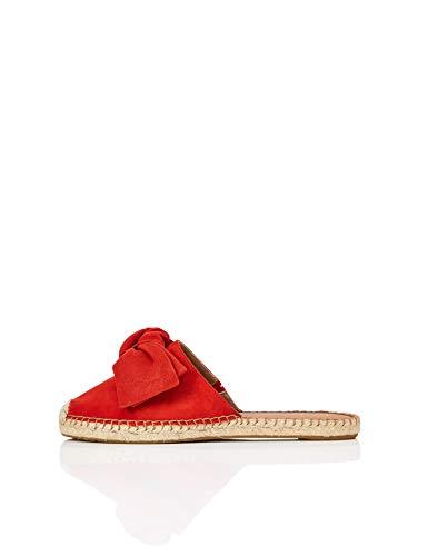 find. Bow Mule Leather Espadrille Geschlossene Sandalen, Rot Red), 37 EU -