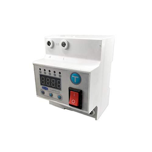Trennschalter 63 A Automatischer Reconnect Circuit Breaker mit Über- und Unterspannung Überstrom Auslaufschutz Überspannungsschutz Relais, 63A -