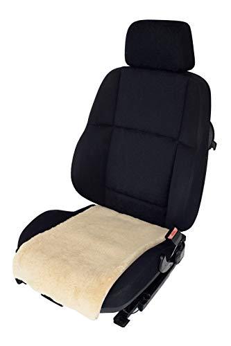 Leibersperger Felle Autositz-Auflage/Aufleger aus Merino Lammfell Premium 36cm Breite x 60cm Länge für Sitzfläche (Schiefer) (Sekt)