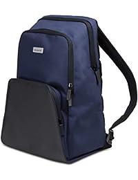 Moleskine City Travel - Mochila para ordenador de 13 pulgadas y tablet con respaldo transpirable, azul zafiro, mediana 28 x 17 x 37 cm