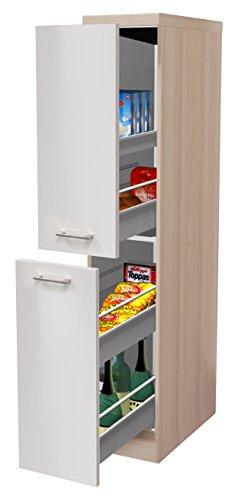 #Flex-Well 00010162 Demi-Apotheker-Schrank Abaco Perlmutt glänzend, Akazie 30 x 161,6 x 57,5 cm#