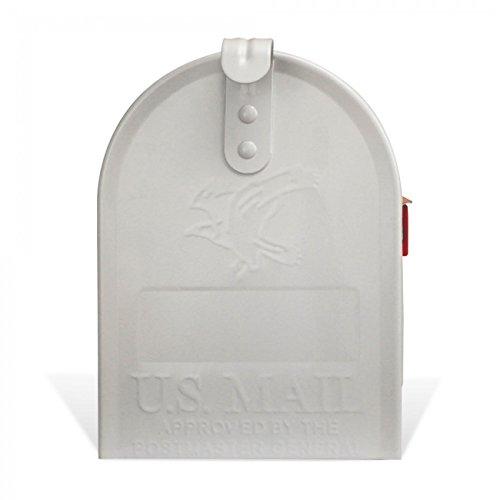 BANJADO US Mailbox | Amerikanischer Briefkasten 51x22x17cm | Letterbox Stahl weiß | mit Motiv WT Muster Herzen, Briefkasten:ohne Standfuß - 6