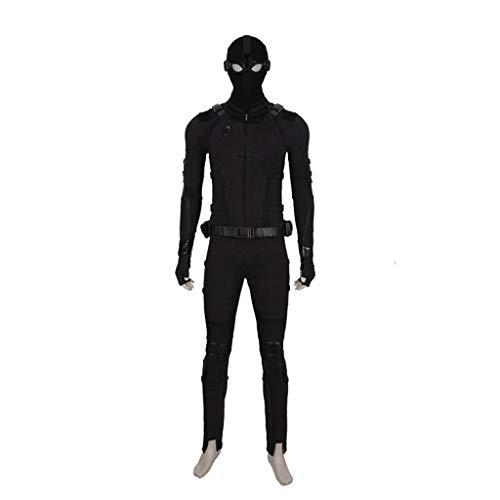 nihiug Spider-Man Heroes Expedition Cos Suit Schwarze Turnschuhe Komplette Cosplay-Kleidung Halloween-Kostüme,Black-XL