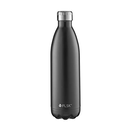 FLSK Das Original Edelstahl Trinkflasche - Kohlensäure geeignet | Die Isolierflasche hält 18 Stunden heiß und 24 Stunden kalt | ohne BPA und rostfrei - 1000ml -
