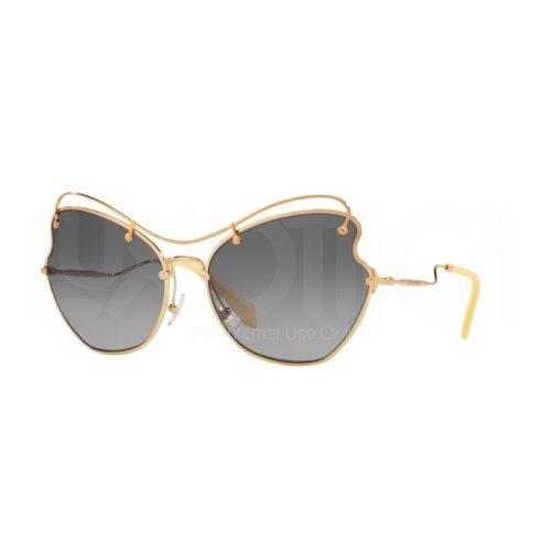 Miu Miu Damen 0MU56RS 7OE3E2 65 Sonnenbrille, (Antique Gold/Grey)