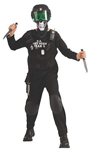 Rubies Kostüm Costume Co, Inc Boys Kinder Navy Seal Team 6 Kostüm Schwarz (Navy Seal Kinder Kostüm)