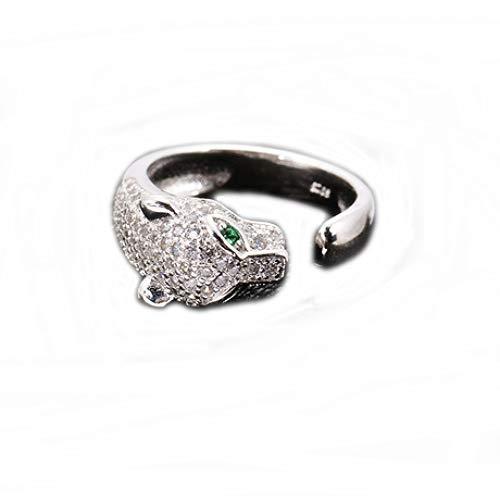 zhenfa S925 Silber Ring, S925 Silber Damen Herren Azure Fünfzack Stern Ring, Mode-Carving-Prozess, Einstellbarer Ring, hypoallergen, Ring Box