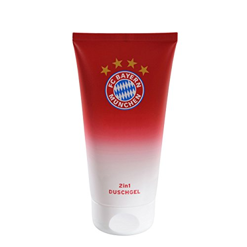 Preisvergleich Produktbild FC Bayern München Luxus Duschgel / 2in1 Hair & Body Shampoo / Showergel - FCB plus gratis Aufkleber forever München
