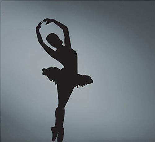 Ballett Tänzerin Silhouette Removable Vinyl Wall Art Decor Mädchen Zimmer Wandaufkleber Tanzen Tänzer Ballerina Tänzerin Tanz Studio 90X40cm