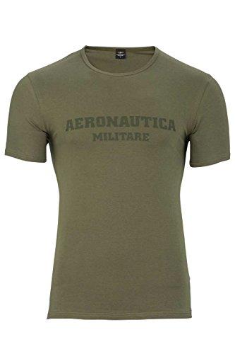 Aeronautica Militare Herren Shirt T-Shirt Luca, Farbe: Armeegruen, Größe: S