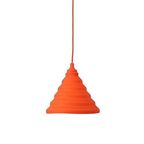 OSALADI Pendelleuchten Hängelampe Silikon Licht DIY Moderne Kinder Schlafzimmer Restaurant Bunte Pendelleuchte (Orange) - Square Bath Lighting