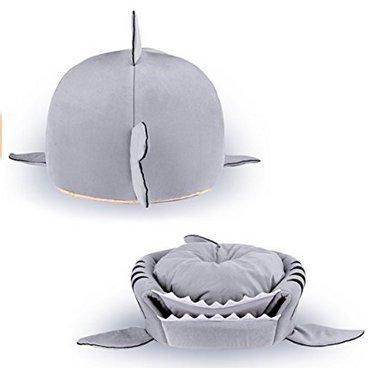 Danapp - Nido para gato de tiburón con forma de boca, 4 estaciones