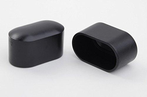 12 Stück Livindo Stuhlbeinkappe Stuhlbeinschutz Bodenschutz Abdeckkappe 38 x 20 mm, schwarz, aus Kunststoff