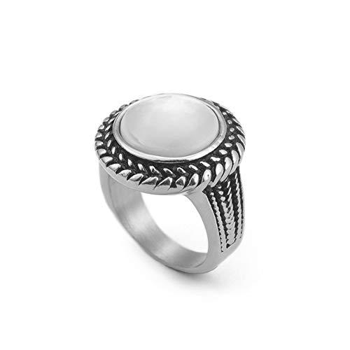 Xjya anello in acciaio al titanio 316l per unisex,steelcolor,8#