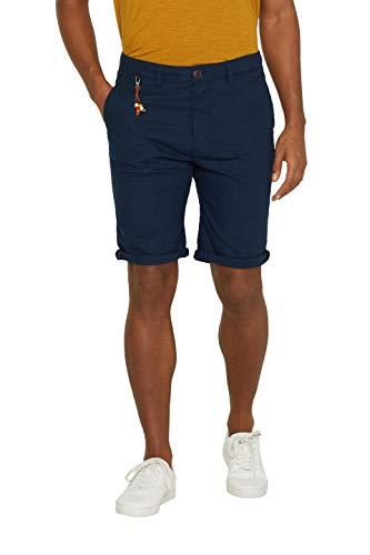 ESPRIT Herren 039EE2C004 Shorts, Blau (Navy 400), W36(Herstellergröße: 36)