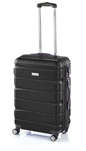 Double2 maleta JohnTravel 70 cm, cuatro ruedas dobles, ABS (Negro)