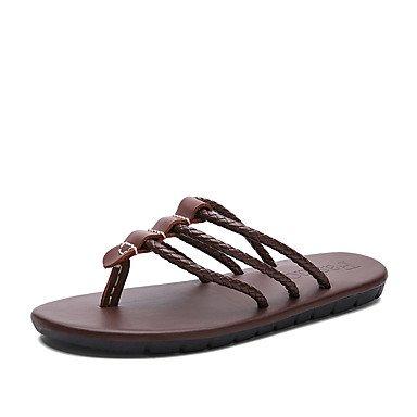 Slippers & amp da uomo;Primavera Estate Autunno Comfort pelle bovina Ufficio esterno & amp;Career Dress Cas sandali US5.5-6 / EU37 / UK4.5-5 / CN37