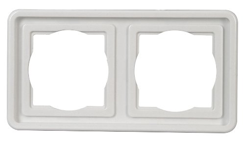 Preisvergleich Produktbild Kopp 302402074 Abdeckrahmen Unterputz Feuchtraum, 2-fach, arktis