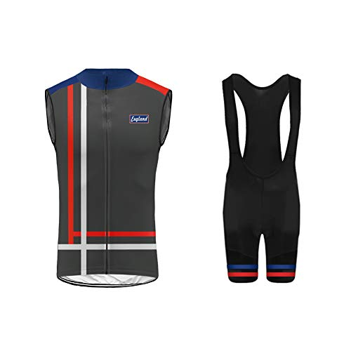 Uglyfrog da Solo Gilet o/Completo Abbigliamento Ciclismo, Maglia Ciclismo Senza Maniche con Bib Pantaloncini Abbigliamento da Ciclismo Asciugatura Rapida per MTB Ciclista, Reticolo di Griglia