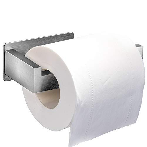 Meckily Toilettenpapierhalter Ohne Bohren, Selbstklebend Toilettenpapierrollenhalter Edelstahl Klopapierhalter Wc Halter Rollenhalter Klorollenhalter Papierhalter für Küche und Badzimmer