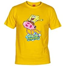 Camiseta Bob Esponja con Medusa (mxgames) (Talla: 7-8 años,