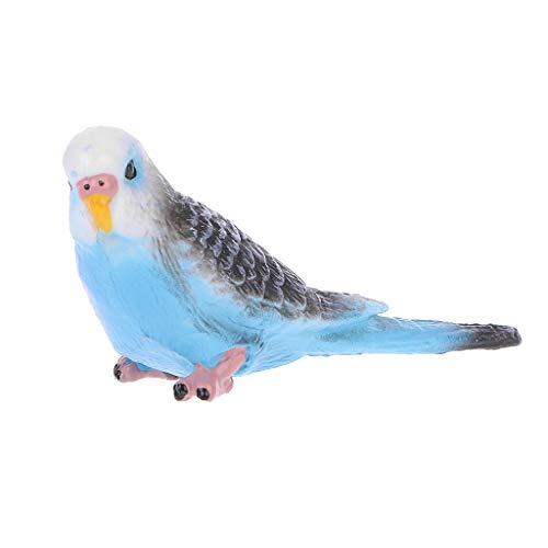 Senoow niedlicher Kleiner Papagei-Vogel-Simulations-Modell-Haus-Schreibtisch-Dekorations-Verzierungen
