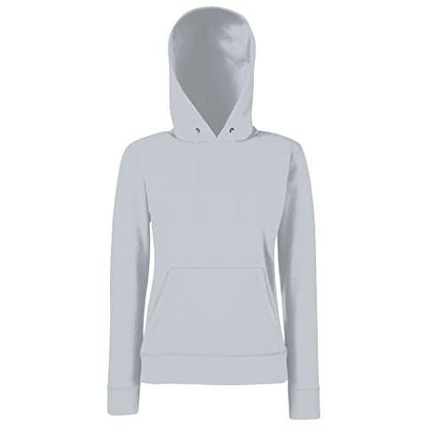 Fruit Of The Loom Lady Fit Pullover mit Kapuze (S) (Grau) S,Grau