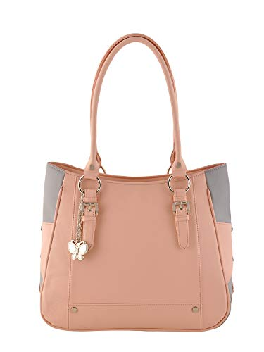 Butterflies Women's Handbag (Peach) (BNS 0546 PCH)