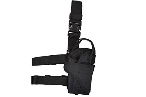 Sector 71- Fondina di alta qualità in diversi colori sinistra o destra, Cosciale con cintura e fascia cosciale, nero, destra - Pistola Fondina