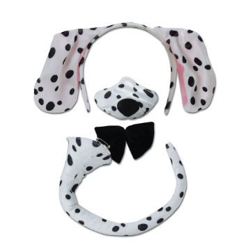 Dalmatiner Kostüm Ohren - Dalmatian Set and Sound costume Kids Fancy Dress