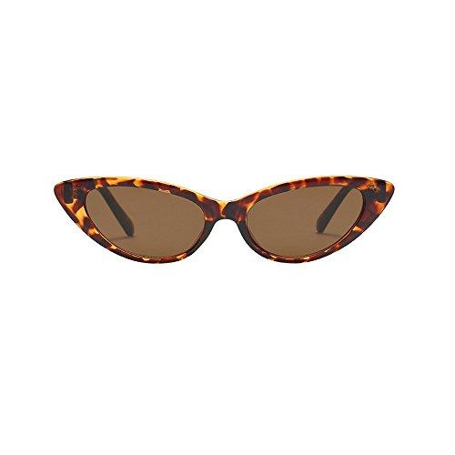 Honestyi Mens Womens Small Frame Damen Oval Shape Sonnenbrillen Eyewears Ovale Sonnenbrille mit kleinem Rahmen und