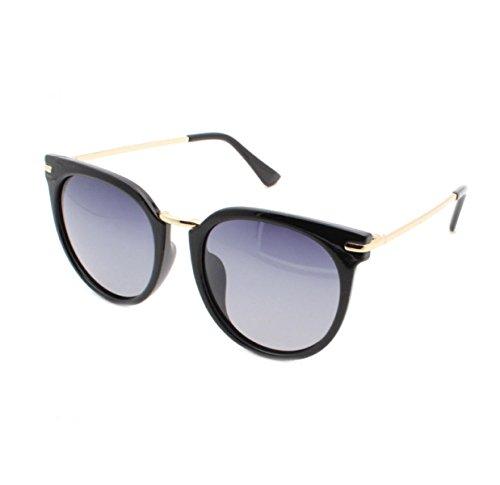 Frau HAOYUXIANG Zustrom Von Menschen In Europa Und Amerika Mode Polarisierte Sonnenbrille Runde Dose,C1