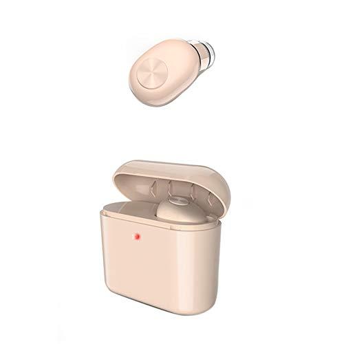 Kuizhiren1 kabellose Bluetooth-Headsets für Kopfhörer,BL1 Tragbare drahtlose Bluetooth 4.2 Ear Bud wiederaufladbare Kopfhörer Kopfhörer Khaki Dual-bud-stereo