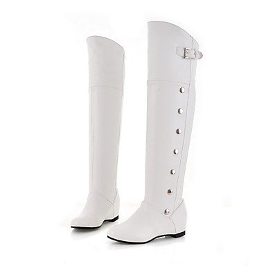 Gll & Xuezi Femmes Bottines Bottes Automne Hiver Faux Cuir Casual Bas Blanc Noir Marron 2.5 - 4.5 Cm Marron