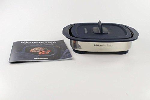 TUPPERWARE MicroPro Grill dunkelblau Mikrowellen-Griller Mikrowelle + Rezeptheft