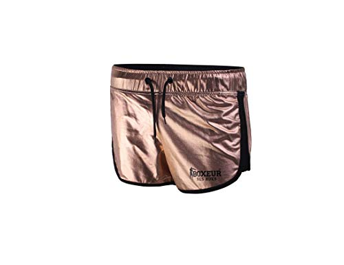 BOXEUR DES RUES BXT-1794 Pantalones Cortos, Ligeros y Transpirables, Mujer, Oro Rosa, XL