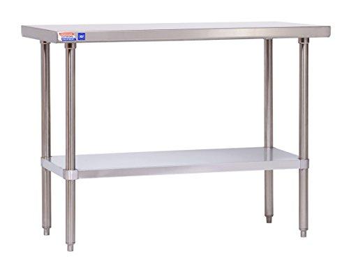 Flat-top-arbeitstisch (Edelstahl Tisch-1219x 610x 914mm (121,9x 61x 91,4cm) Flat Top-kein Aufkantungen.)