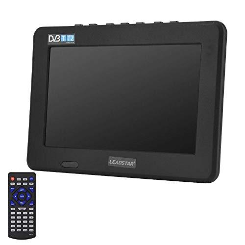 VBESTLIFE 7 Zoll DVB-T-T2 Fernseher,16: 9 HD Digital Analog Portable TV Farbfernseher für Haus/Auto,unterstützt MKV, MOV, AVI, WMV, MP4, FLV, MPEG1-4, RMVB, MP3-Format.(EU)