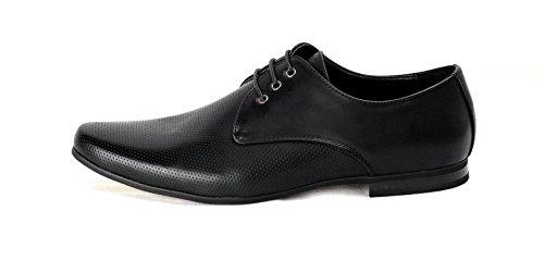 Hommes Chaussures À Lacets Habillées Robe élégant Mode Décontracté Travail Bureau Mariage taille UK Noir