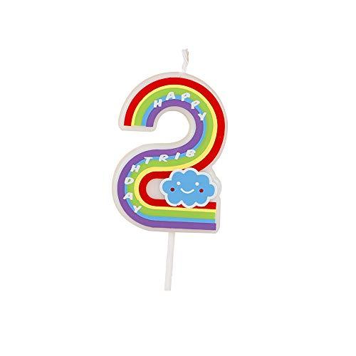 Número velas, multicolor, velas de feliz cumpleaños para adultos y niños Happy Time (2)